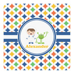 Boy's Astronaut Square Decal (Personalized)