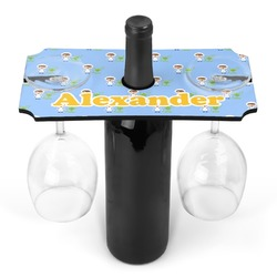Boy's Astronaut Wine Bottle & Glass Holder (Personalized)