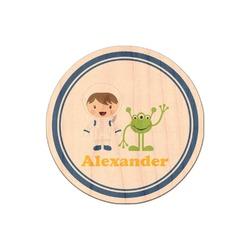 Boy's Astronaut Genuine Wood Sticker (Personalized)