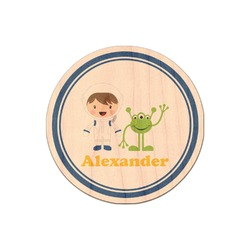Boy's Astronaut Genuine Maple or Cherry Wood Sticker (Personalized)