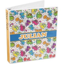 Dinosaur Print 3-Ring Binder (Personalized)