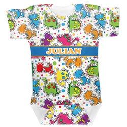 Dinosaur Print Baby Bodysuit (Personalized)