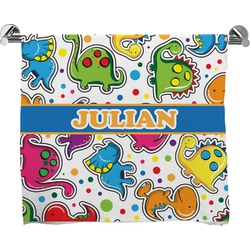 Dinosaur Print Full Print Bath Towel (Personalized)