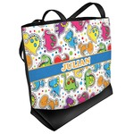Dinosaur Print Beach Tote Bag (Personalized)