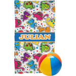 Dinosaur Print Beach Towel (Personalized)