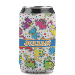 Dinosaur Print Can Sleeve (12 oz) (Personalized)