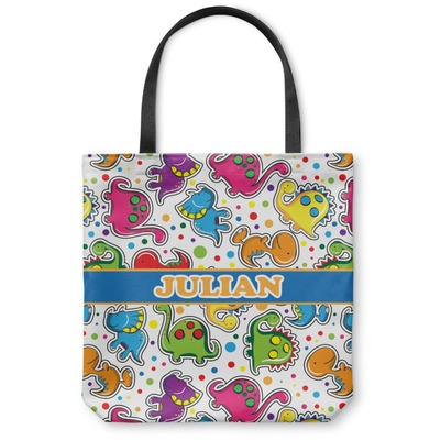 Dinosaur Print Canvas Tote Bag (Personalized)