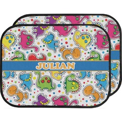 Dinosaur Print Car Floor Mats (Back Seat) (Personalized)