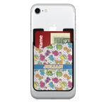 Dinosaur Print 2-in-1 Cell Phone Credit Card Holder & Screen Cleaner (Personalized)