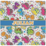Dinosaur Print Ceramic Tile Hot Pad (Personalized)
