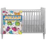 Dinosaur Print Crib Comforter / Quilt (Personalized)