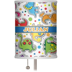 "Dinosaur Print 7"" Drum Lamp Shade (Personalized)"