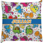 Dinosaur Print Decorative Pillow Case (Personalized)