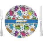 Dinosaur Print Glass Lunch / Dinner Plates 10