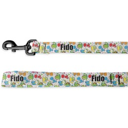 Dinosaur Print Deluxe Dog Leash (Personalized)