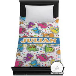 Dinosaur Print Duvet Cover - Twin (Personalized)