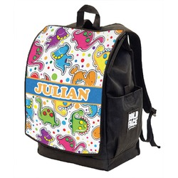 Dinosaur Print Backpack w/ Front Flap  (Personalized)