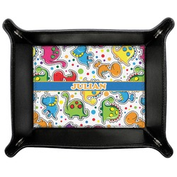 Dinosaur Print Genuine Leather Valet Tray (Personalized)