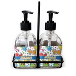 Dinosaur Print Soap & Lotion Dispenser Set (Glass) (Personalized)