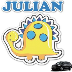 Dinosaur Print Graphic Car Decal (Personalized)