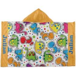 Dinosaur Print Kids Hooded Towel (Personalized)