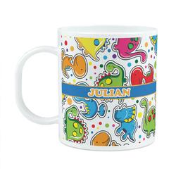 Dinosaur Print Plastic Kids Mug (Personalized)