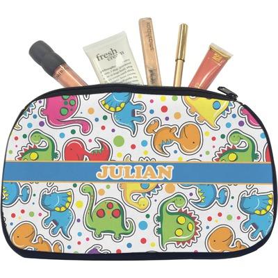 Dinosaur Print Makeup / Cosmetic Bag - Medium (Personalized)