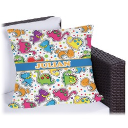 Dinosaur Print Outdoor Pillow (Personalized)