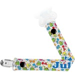 Dinosaur Print Pacifier Clips (Personalized)