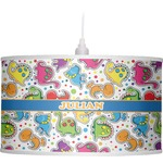 Dinosaur Print Drum Pendant Lamp (Personalized)