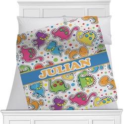Dinosaur Print Minky Blanket (Personalized)
