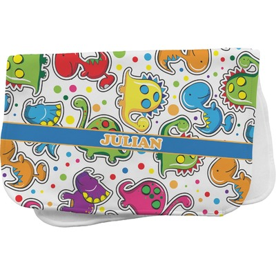 Dinosaur Print Burp Cloth (Personalized)