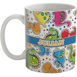 Dinosaur Print Coffee Mug (Personalized)