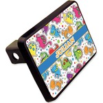 """Dinosaur Print Rectangular Trailer Hitch Cover - 2"""" (Personalized)"""