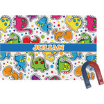 Dinosaur Print Rectangular Fridge Magnet (Personalized)