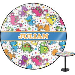 Dinosaur Print Round Table (Personalized)