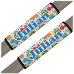 Dinosaur Print Seat Belt Covers (Set of 2) (Personalized)