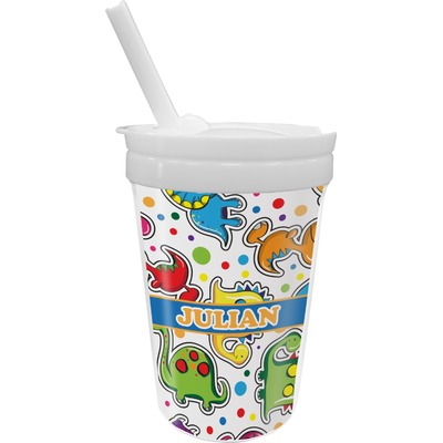 Dinosaur Print Sippy Cup with Straw (Personalized)