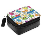 Dinosaur Print Small Leatherette Travel Pill Case (Personalized)