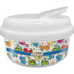 Dinosaur Print Snack Container (Personalized)