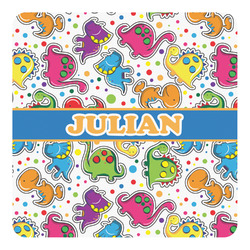 Dinosaur Print Square Decal - Custom Size (Personalized)