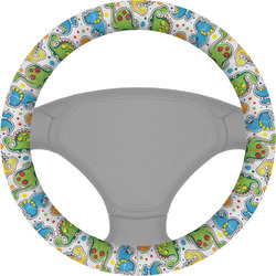 Dinosaur Print Steering Wheel Cover (Personalized)