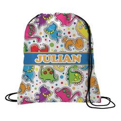 Dinosaur Print Drawstring Backpack (Personalized)