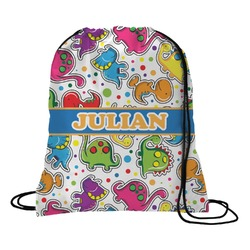 Dinosaur Print Drawstring Backpack (Personalized)