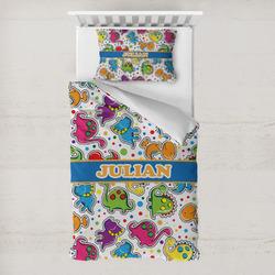 Dinosaur Print Toddler Bedding w/ Name or Text