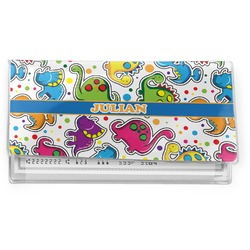 Dinosaur Print Vinyl Checkbook Cover (Personalized)