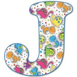 Dinosaur Print Letter Decal - Custom Sized (Personalized)