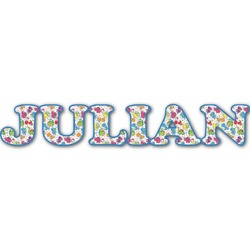 Dinosaur Print Name/Text Decal - Custom Sized (Personalized)