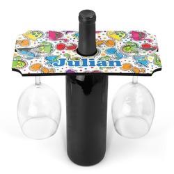 Dinosaur Print Wine Bottle & Glass Holder (Personalized)