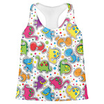 Dinosaur Print Womens Racerback Tank Top (Personalized)